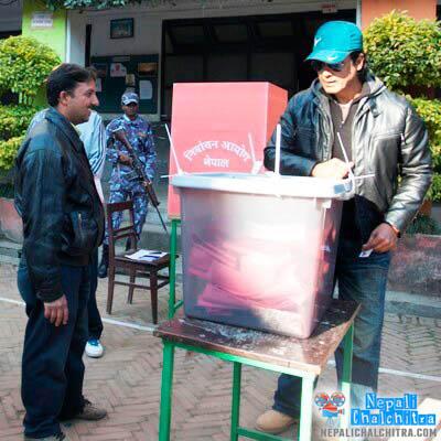 Rajesh Hamal polling station Nepal Votes