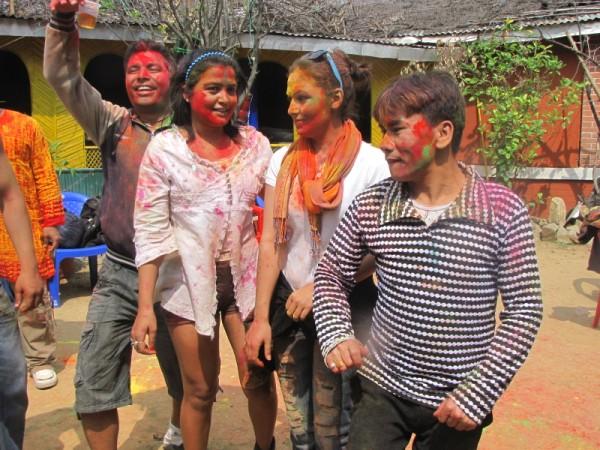 Rekha Thapa Playing Holi 2011 11