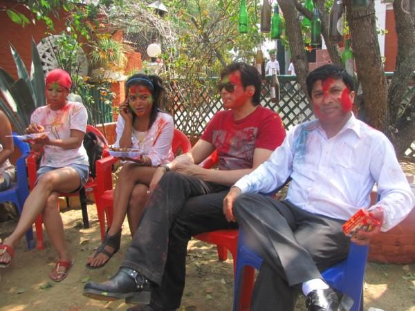 Rekha Thapa Playing Holi 2011 2