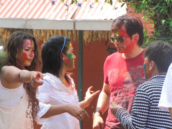 Rekha Thapa Playing Holi 2011 5