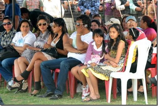 Rekha Thapa and Karishma Manandhar at Football Match in Pokhara 2
