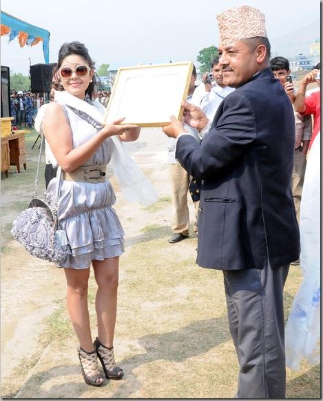 Rekha Thapa and Karishma Manandhar at Football Match in Pokhara 3