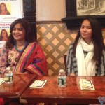 Rekha Thapa in Press Meet USA Jackson Heights NYC