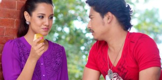 Saugat Malla and Priyanka Karki in music Video