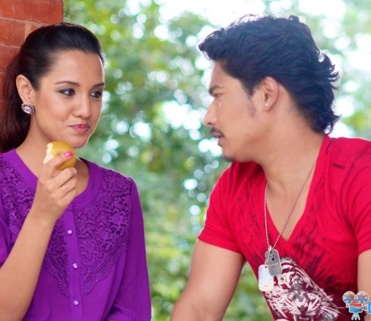 Saugat Malla and Priyanka Karki in music Video