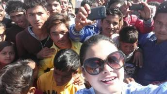 Sushma Karki selfie Dipasha BC Football Match Surkhet 5