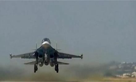 Russian aircraft returns after examining high climate zones