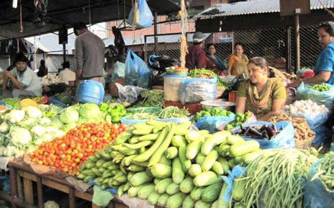 Price of green vegetable doubled in Biratnagar bazaar