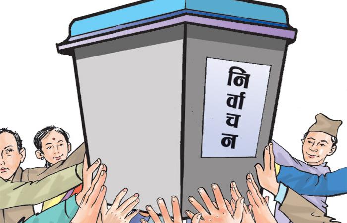 मतदान गर्न भारतबाट घर फर्कनेको लर्को