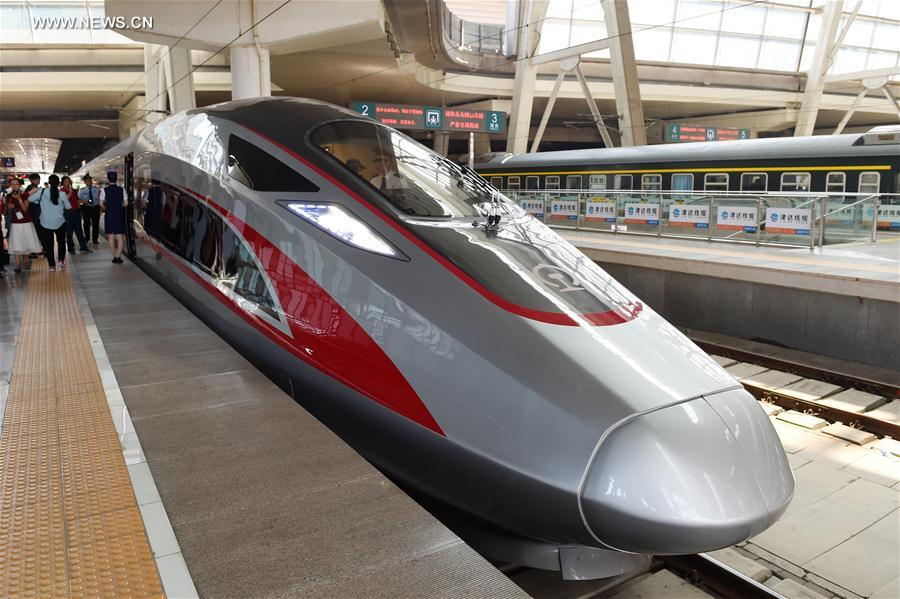 China's new high-speed train debuts on Beijing-Shanghai route