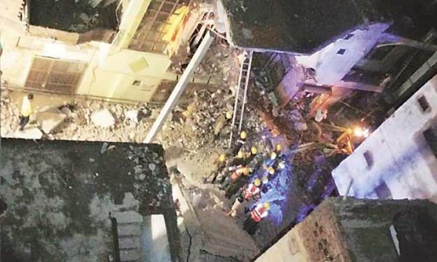 3 killed, 9 injured in building collapse in India