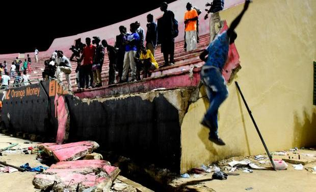 At least 8 killed in wall collapse at football match in Senegal
