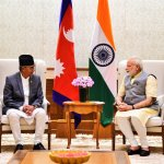 Prime Minister Deuba meets his Indian counterpart