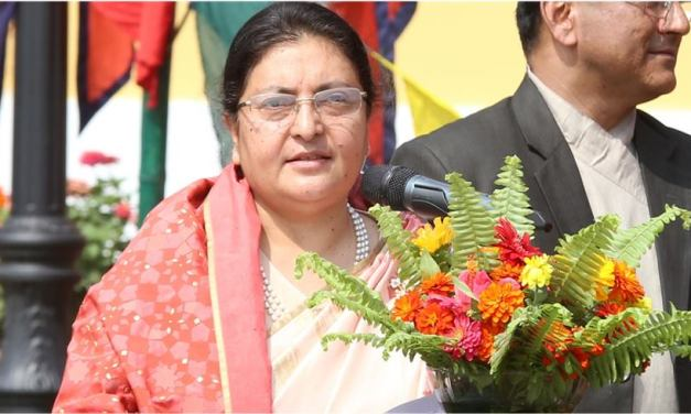 Prez Bhandari extends sorrow over Dahal's demise