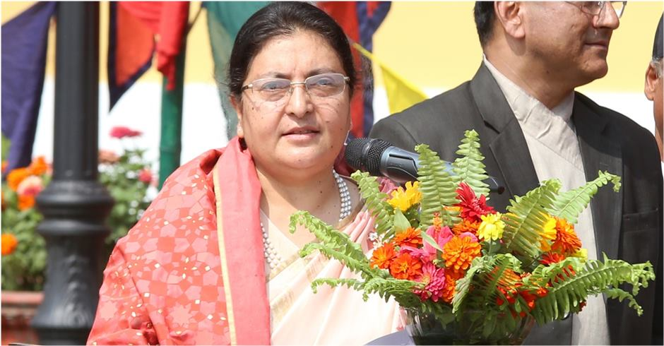 President Bhandari extends greetings on Tihar
