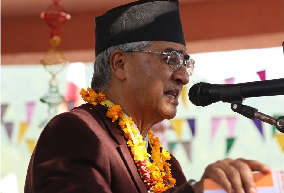 Congress for implementation of constitution: PM Deuba