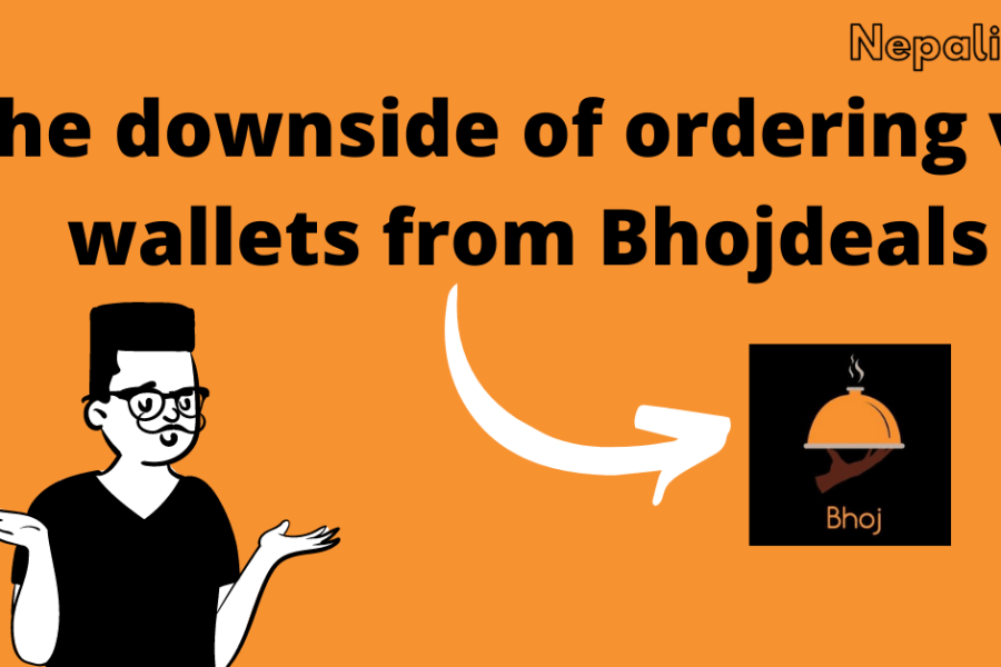 The downside of ordering via wallets from Bhojdeals