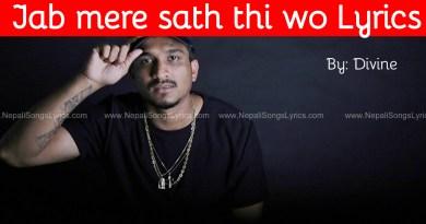 Jab mere sath thi wo Lyrics Divine Chal bombay