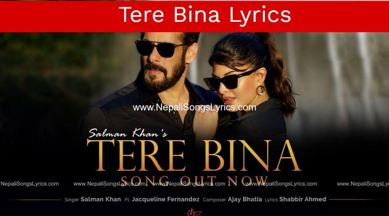 Tere Bina lyrics | Salman Khan | Jacqueline Fernandez | Ajay Bhatia