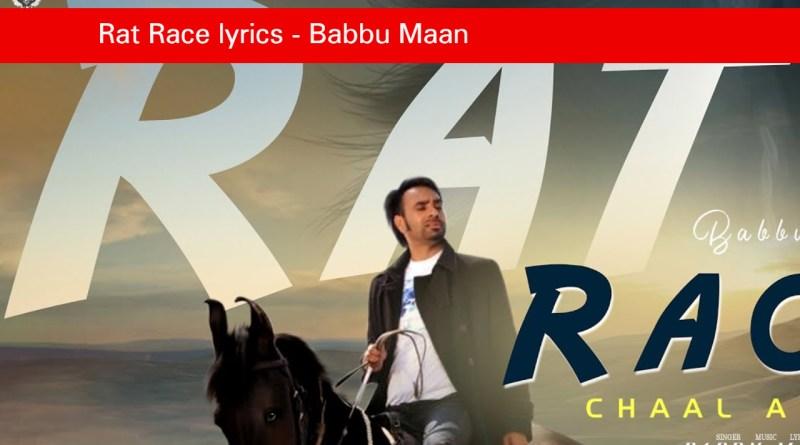 Rat Race lyrics - Babbu Maan_ Chaal Arabia