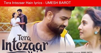 Tera Intezaar Hain lyrics - UMESH BAROT__ Prenal Oberai