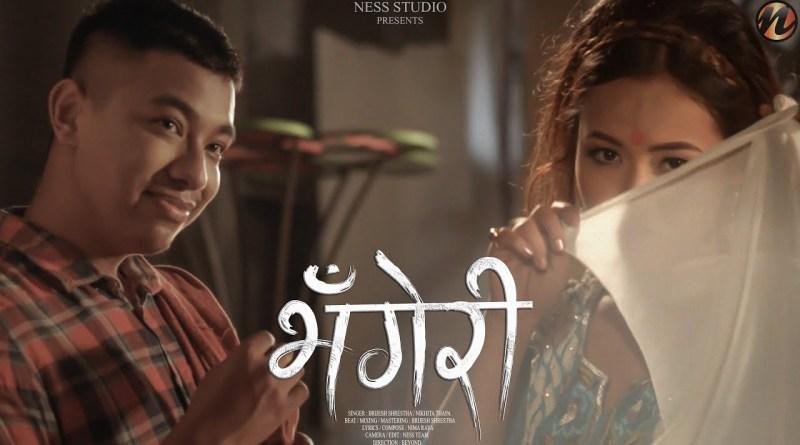 BHANGERI lyrics - Brijesh Shrestha x Nikhita Thapa x Nima Raya