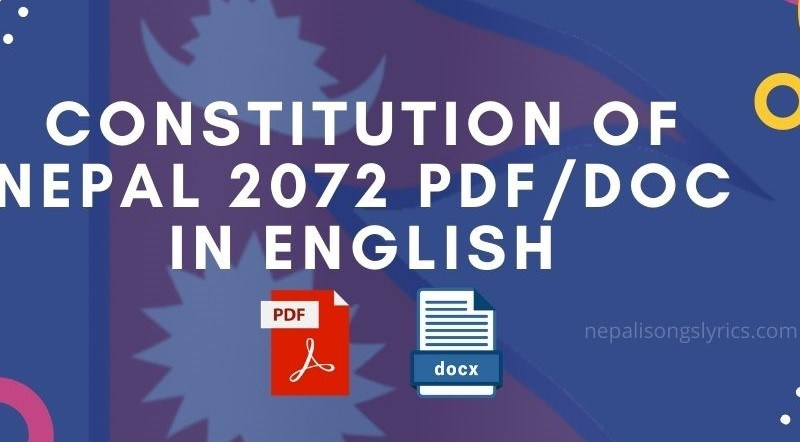 constitution of nepal 2077 pdf or docx in english