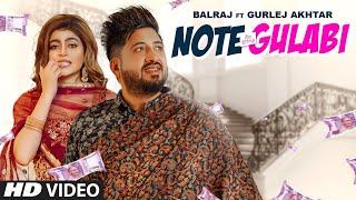 Note Gulabi Lyrics - Balraj, Gurlej Akhtar
