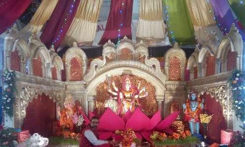 Dashin celebration at Bisal Bazaar, Kathmandu.