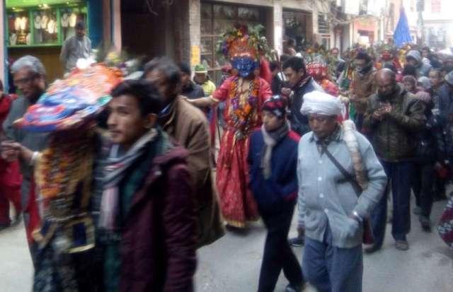 Glimpse of Bhadrakali Jatra that is held every 12 years.
