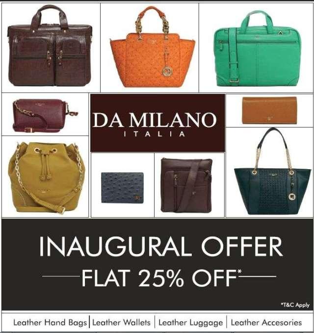 Inaugural offer from  DA MILANO ITALIA
