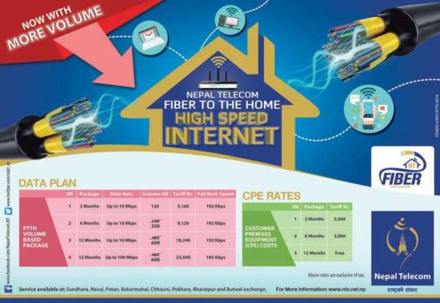 NT revises FTTH Data Package Rates