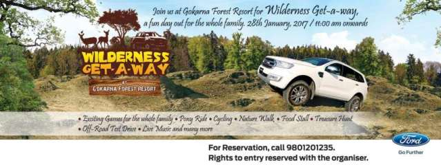 Ford Organising 'Wilderness Get-A-Way' in Gokarna Forest Resort