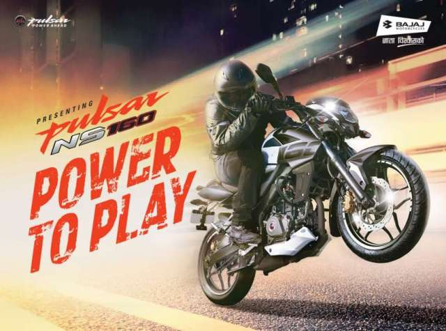 "Bajaj Pulsar NS 160 ""Power to Play"" – Launched in Nepal"