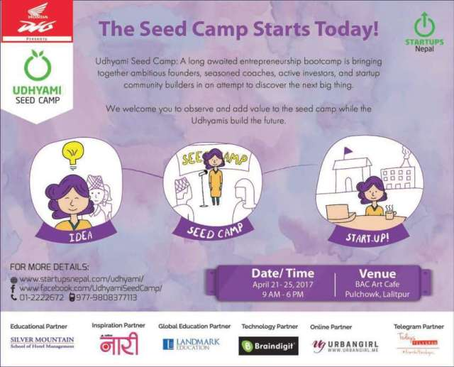 Udhyami Seed Camp for Startups Kicks Off