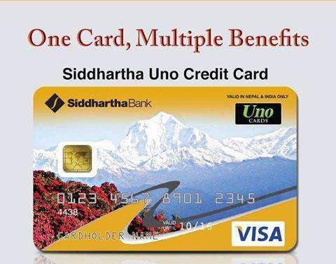 Siddhartha Bank's UNO Credit Card