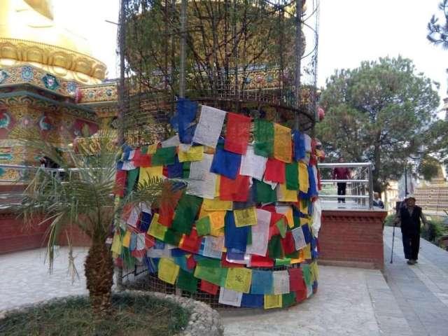 Prayer flags at Buddha Park, Swayambunath, Kathmandu.