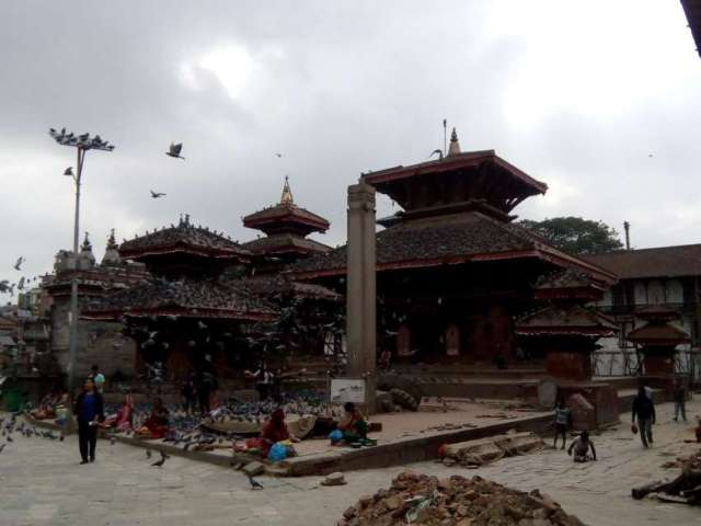 Early morning at Basantapur Durbar Square, which one of the UNESCO World Heritage sites.