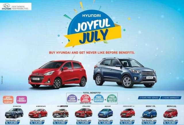Hyundai brings 'Joyful July' offer