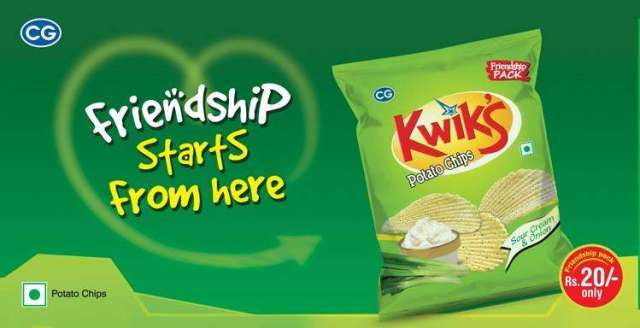 'Friendship pack' of Kwiks Potato Chips