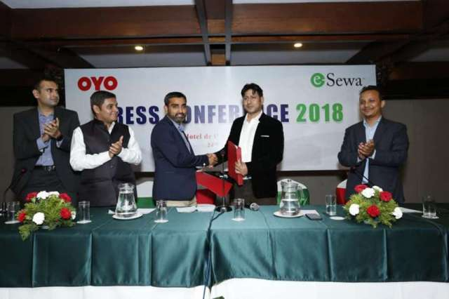 e-sewa partners with OYO