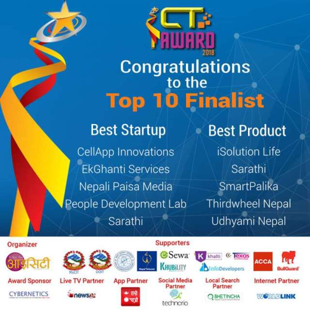 Top 5 Finalists of ICT Awards announced