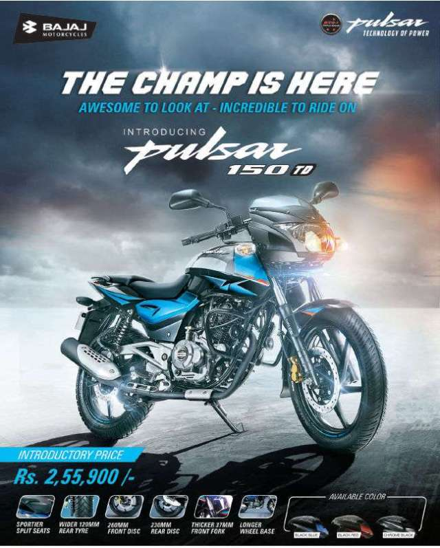 All-new Pulsar 150 TD launched in Nepal