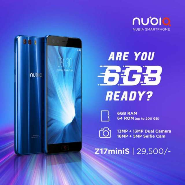 "Nubia Smartphone ""Are you 6 GB ready?"""