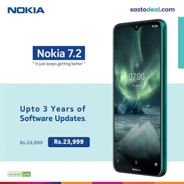Nokia 7.2 now available in Sasto Deal