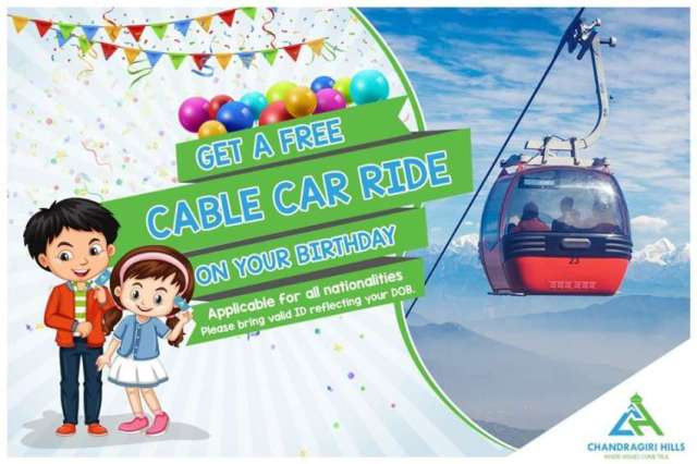 Visit Chandrigiri Hills on your birthday, get a free cable car ride