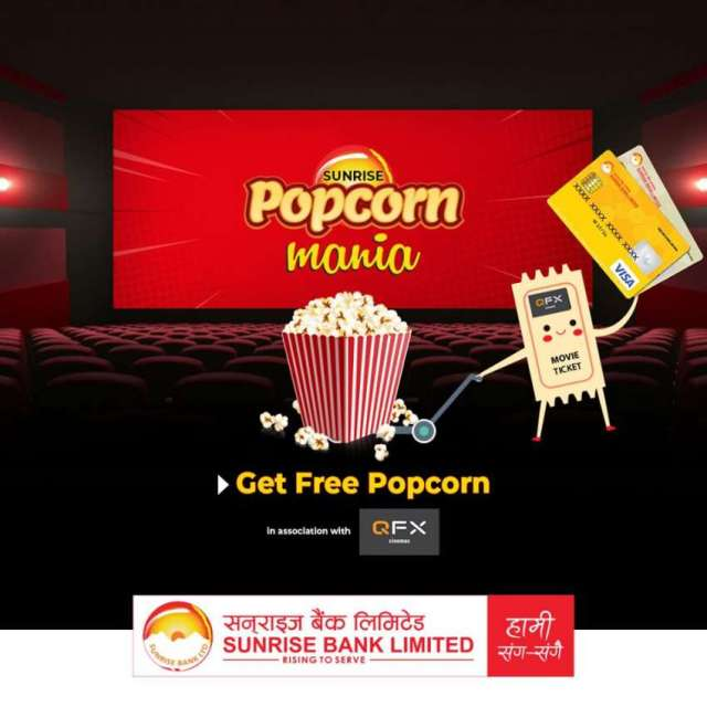Free Popcorn at QFX Cinemas for Customers of Sunrise Bank