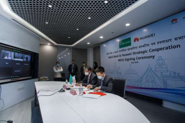 Nabil Bank Signs Strategic Cooperation MOU with Huawei