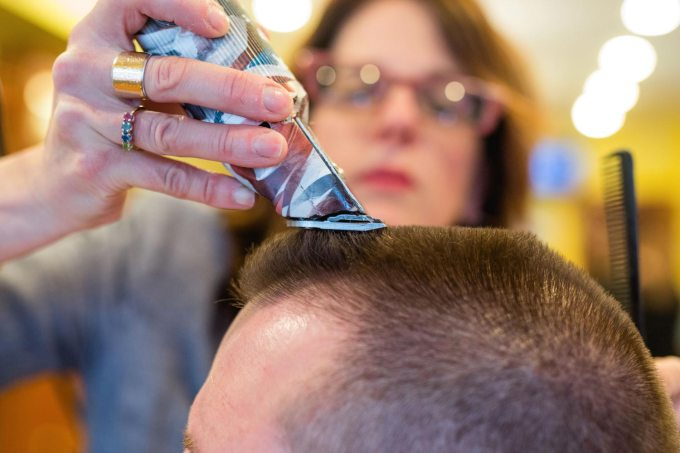 support nepa cancer patients with buzz cuts at mick's buzz