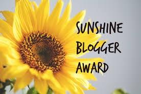 Sunshine Blogger Award Nomination